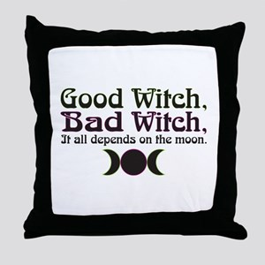 Good Witch, Bad Witch... Throw Pillow