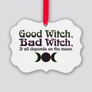 Good Witch, Bad Witch... Picture Ornament