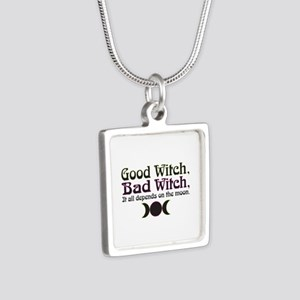 Good Witch, Bad Witch... Silver Square Necklace