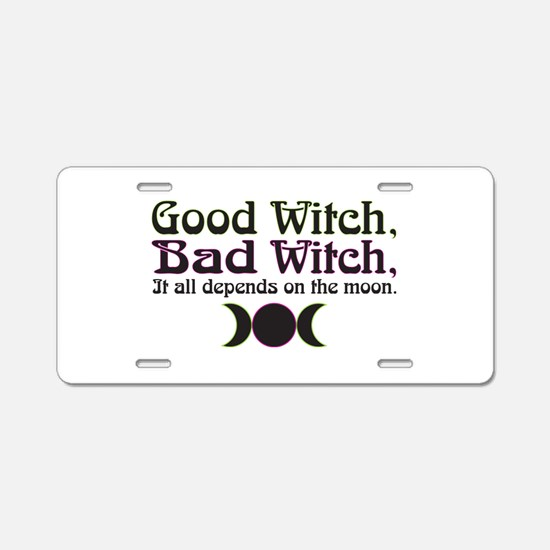 Good Witch, Bad Witch... Aluminum License Plate
