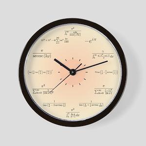Math Clock (Light Yellow) Wall Clock