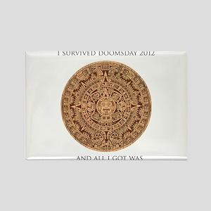I survived Doomsday 2012 Rectangle Magnet