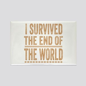 I Survived The End Of The World Rectangle Magnet