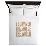 I Survived The End Of The World Queen Duvet