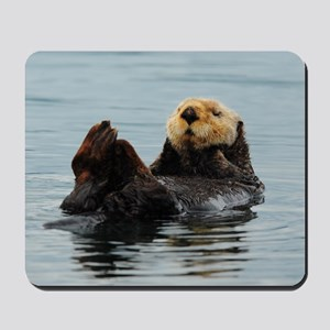 Alaskan Sea Otters Mousepad