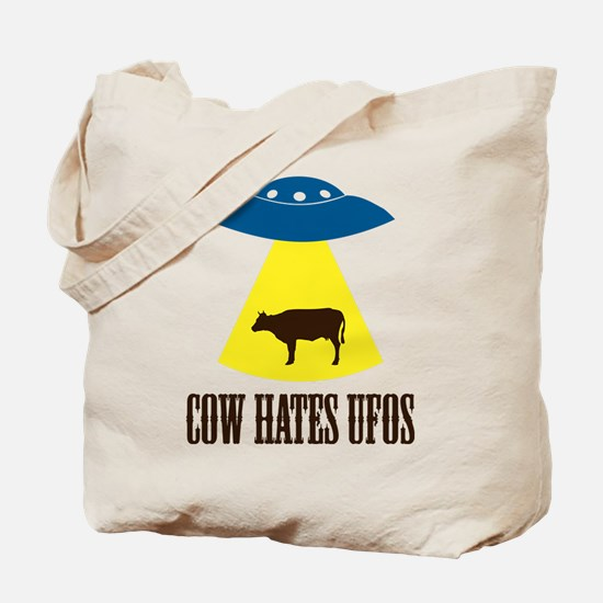 Cows are Afraid of UFOs Tote Bag
