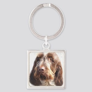 spinone head brown Square Keychain