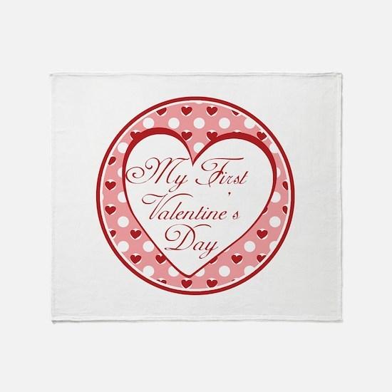 My First Valentines Day Throw Blanket