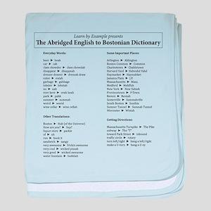 Boston-English Dictionary baby blanket