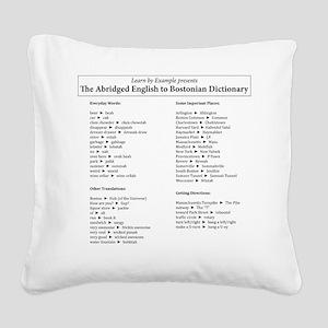 Boston-English Dictionary Square Canvas Pillow