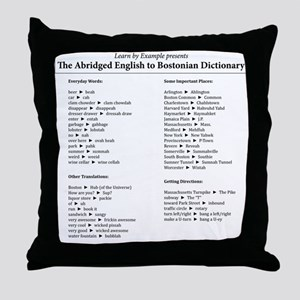 Boston-English Dictionary Throw Pillow