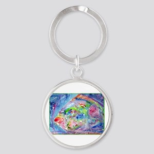 Tropical Fish! Colorful art! Round Keychain