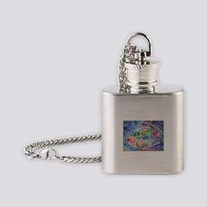 Tropical Fish! Colorful art! Flask Necklace