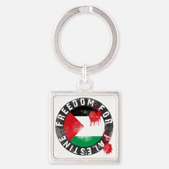 Freedom for PALESTINE 2011 Square Keychain