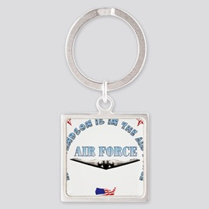 Air Force Grandson Square Keychain