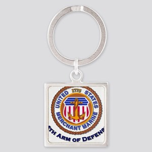 4th Arm of Defense Square Keychain