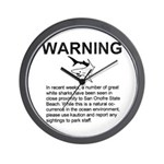 San Onofre Great White Shark Wall Clock