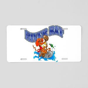RIVER RAT Aluminum License Plate