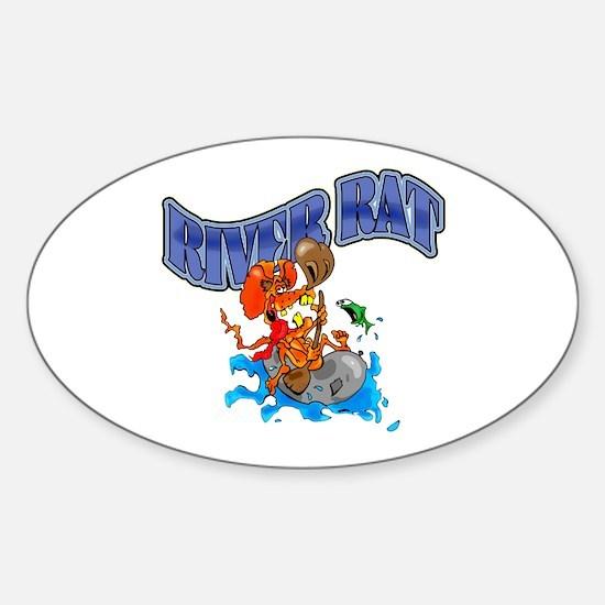 RIVER RAT Sticker (Oval)
