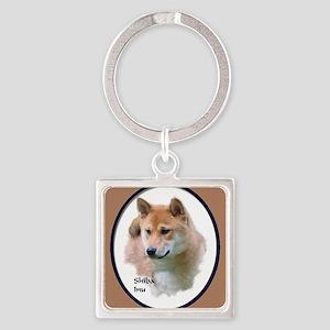 Shiba Inu Art Square Keychain