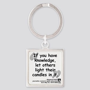 Fuller Light Quote Square Keychain