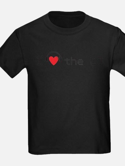 I love (heart) the DJ and headphones design T