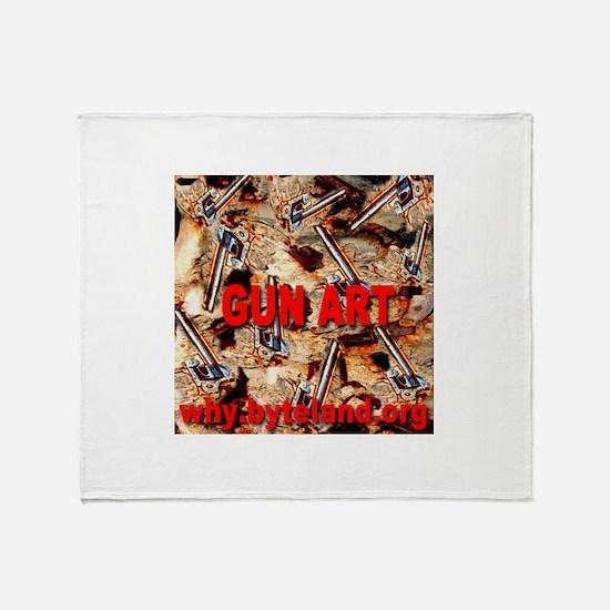 Gun Art Throw Blanket