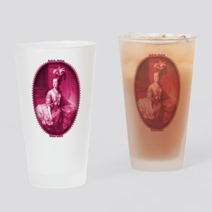 Marie Antoinette Pink Portrait Drinking Glass