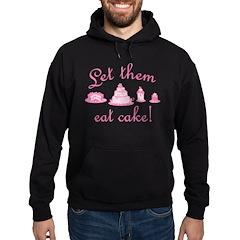 Sweet Pink Let Them Eat Cake Hoodie (dark)