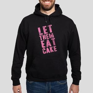 Let Them Eat Cake Pink Hoodie (dark)