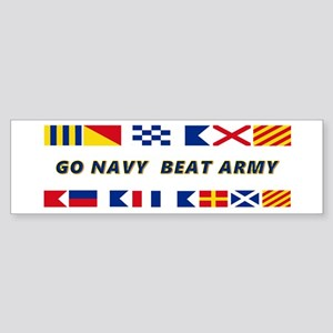 Go Navy Beat Army In Flags Sticker (Bumper)
