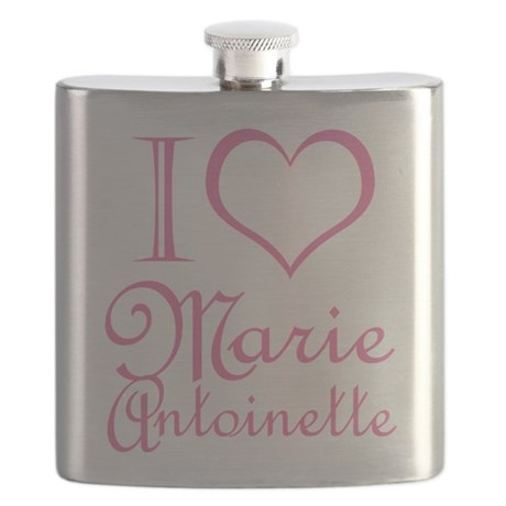 I Love Marie Antoinette Pink Flask