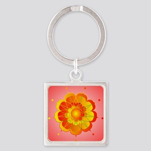 Spiritual Sunshine Square Keychain