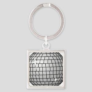 70's Disco Ball Square Keychain