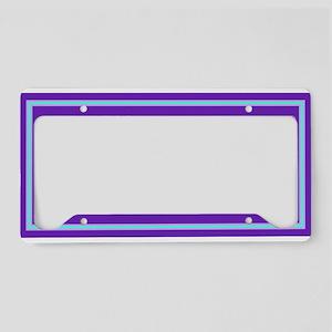 Whimsical Baby Bug Purple License Plate Holder