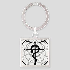 Transmutation Circle Square Keychain