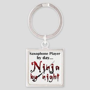 Saxophone Ninja Square Keychain