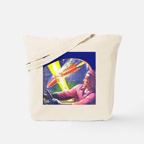 Rocket Explosion Tote Bag