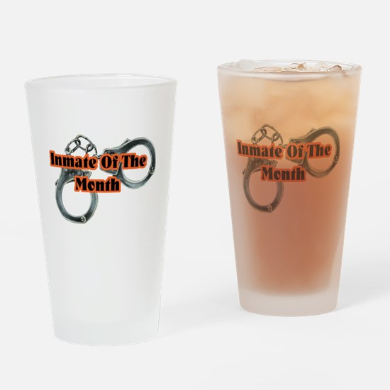 INMATE OF THE MONTH Drinking Glass