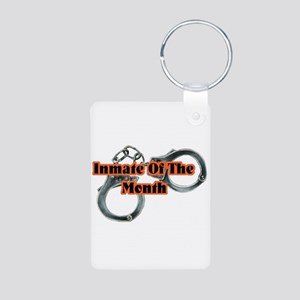 INMATE OF THE MONTH Aluminum Photo Keychain