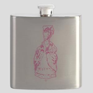 Dancing Marie Antoinette Pink Flask