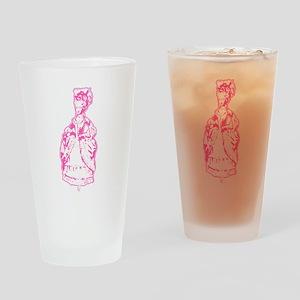 Dancing Marie Antoinette Pink Drinking Glass