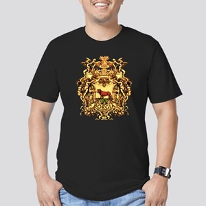 Ornate Borgia Coat Of Arms Men's Fitted T-Shirt (d