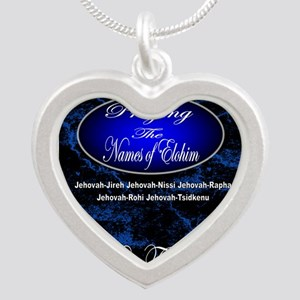 The Names of God Silver Heart Necklace