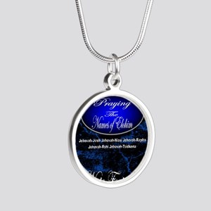 The Names of God Silver Round Necklace