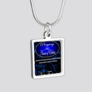 The Names of God Silver Square Necklace