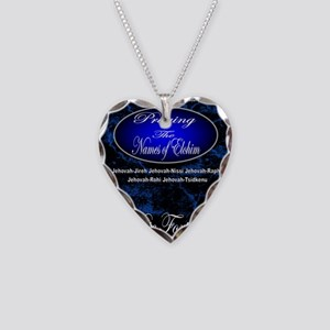 The Names of God Necklace Heart Charm