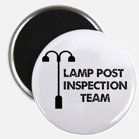 "Lamp Post Inspection Team 2.25"" Magnet (100 pack)"
