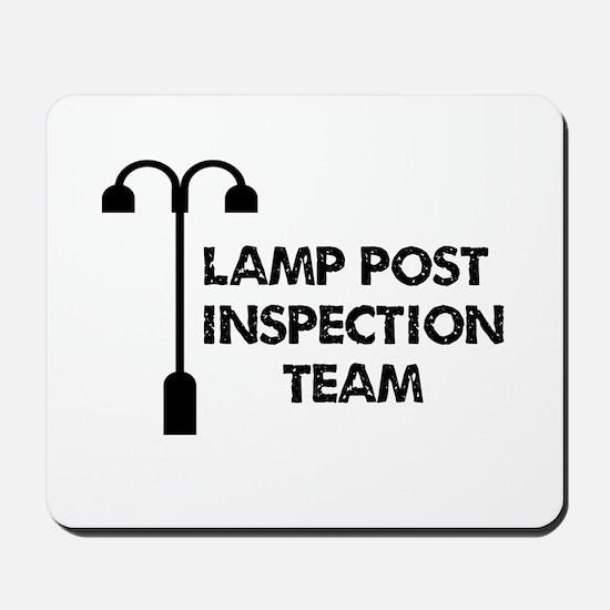 Lamp Post Inspection Team Mousepad