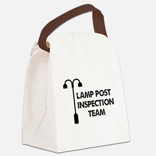 Lamp Post Inspection Team Canvas Lunch Bag